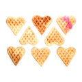 Free Eight Heart Shaped Waffles Stock Photos - 28711673