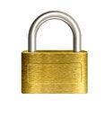Free Closed Brass Padlock Illustration Stock Images - 28714034