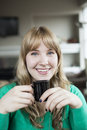 Free Young Woman Drinking Coffee Stock Image - 28716491