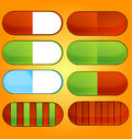 Free Colored And Shiny Medic Pills Set Royalty Free Stock Images - 28716699