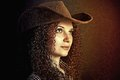 Free Portrait Of Pretty Curly Girl Cowboy Royalty Free Stock Photos - 28718548