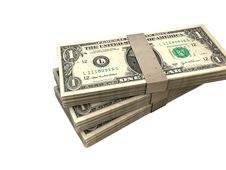 Free Three Packs Of Dollar Bills Stock Photography - 28710362