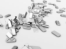 Free Domino Pieces Stock Photos - 28710783