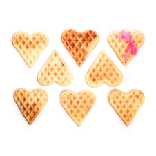 Free Eight Heart Shaped Waffles Stock Photos - 28711673