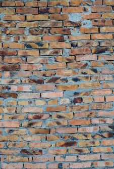 Free Aged Brick Wall Background Stock Photos - 28711893