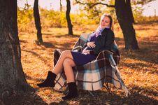 Free Pregnant Woman In Autumn Park Stock Photo - 28711940