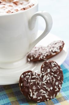 Free Coffee With Cookie Stock Photo - 28712090