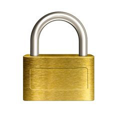Free Closed Brass Padlock Illustration Stock Images - 28714034