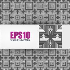 Free Vector Geometric Seamless Pattern Royalty Free Stock Images - 28714519