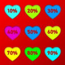 Free Percentage In Hearts Stock Photos - 28714903