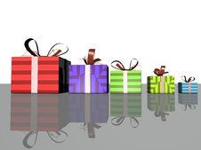 Free Gift Boxes Royalty Free Stock Image - 28716216