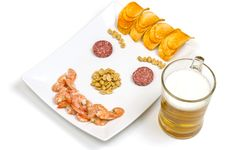 Free Beer Snack Smile Stock Photography - 28717182
