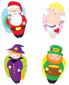 Free Holiday Icons Royalty Free Stock Photo - 28717195