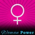 Free Pink Burst Woman Power Square Royalty Free Stock Photos - 28724508