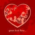 Free Pattern Heart On Red & Text Royalty Free Stock Photo - 28726185