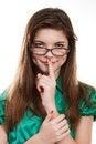 Free Portrait Of Teenage Girl Wearing Glasses Royalty Free Stock Image - 28727266