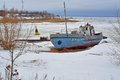 Free Winter Landscape. Old Ship. Royalty Free Stock Photos - 28729608