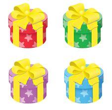 Free Round Gift Box Royalty Free Stock Photos - 28720338