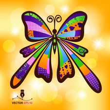 Free Colour Butterfly Royalty Free Stock Image - 28721536