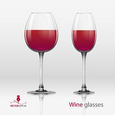 Free Two Glasses Of Wine Stock Photos - 28721553
