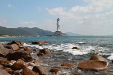 Free The Nanshan Offshore Bodhisattva Statue Stock Photo - 28722920