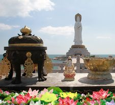 The Nanshan Offshore Bodhisattva Statue Royalty Free Stock Photography