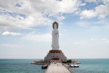 Free The Nanshan Offshore Bodhisattva Statue Stock Photo - 28722970