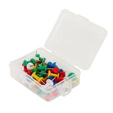 Free Transparent Plastic Box With Thumbtacks Isolated On White Background Stock Photos - 28723133
