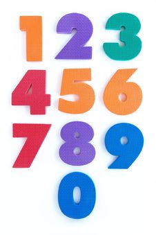 Free Colourful Number Rubber Alphabet Stock Photos - 28723293