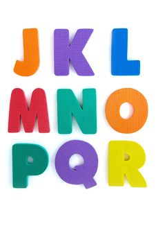 Free Colourful Rubber Alphabet Royalty Free Stock Photography - 28723307