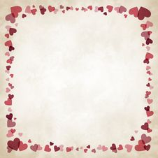 Border Of Hearts Stock Photos