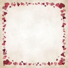 Free Border Of Hearts Stock Photos - 28724293