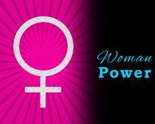Free Pink Burst Woman Power Horizontal Stock Photos - 28724483