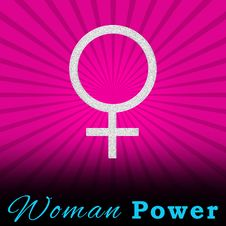 Free Pink Burst Woman Power Square Royalty Free Stock Photos - 28724508