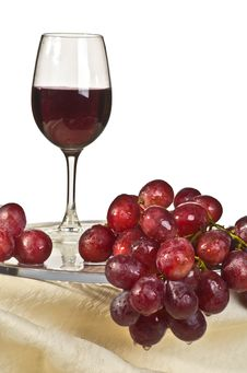 Kasny Grapes And A Glass Of Wine