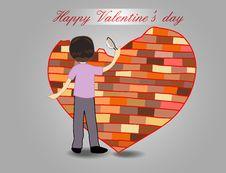 Free Heart Brick Wall Royalty Free Stock Photo - 28725005