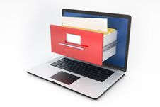 Free Laptop And Archive Box Stock Photography - 28725972