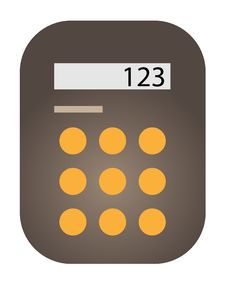 Free Brown Calculator Drawn. Stock Photos - 28726923