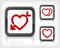 Free Heart With Arrow In Button Stock Images - 28726204
