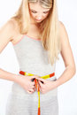 Free Measure Tape Around Woman&x27;s Waist Stock Image - 28732401