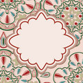 Free Card With Oriental Pattern Stock Photo - 28734380