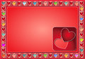 Free Valentine Frame With Pastel Colored Royalty Free Stock Photography - 28735917