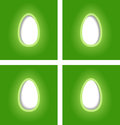 Free Simple Easter Egg Cards Royalty Free Stock Photography - 28739717
