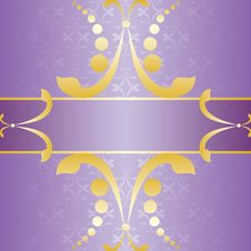 Purple Invitation Card Vector Royalty Free Stock Photo