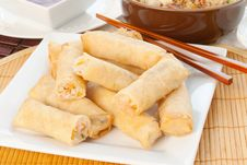 Free Shrimp Spring Rolls Stock Photos - 28731443