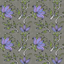 Free Seamless Texture With Blue Flowers Royalty Free Stock Photography - 28734447