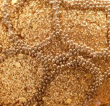 Free Gold Beads And Sequins Stock Image - 28734471