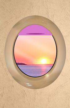 Free Porthole Holiday Destination Stock Photos - 28735703
