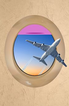 Travel Abstract Porthole Royalty Free Stock Photography