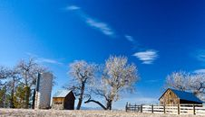 Free Old Farm And Silo In Colorado S Prairie Royalty Free Stock Photo - 28736995